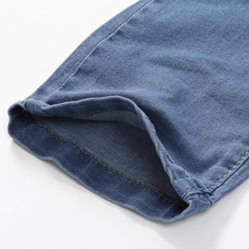 Buco Pantaloni Nge Blau Il Uomo Denim Con Especial Tempo Sportivi R Da Jeans Chiusura Estilo Feroce Libero Per Distrutti wr70frxUq