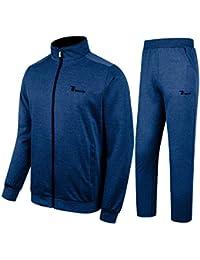 1e112e3dbc Men s Tracksuit Athletic Sports Casual Full Zip Sweatsuit