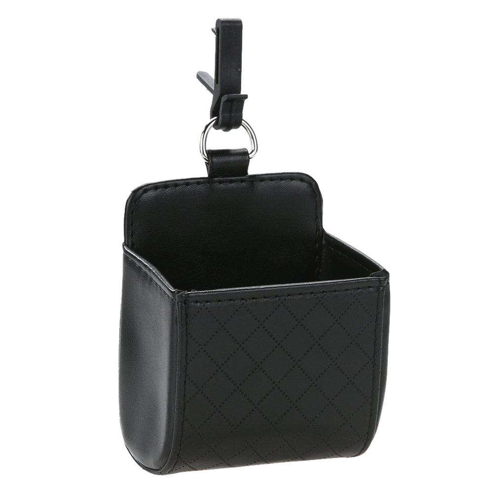 Broadroot coche autom/ático ventilaci/ón de salida para basura Box soporte para tel/éfono m/óvil piel sint/ética bolsa de desechos