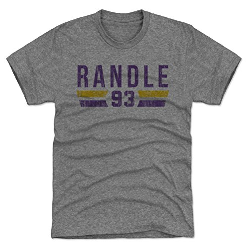 - 500 LEVEL John Randle Triblend Shirt Large Tri Gray - Vintage Minnesota Football Men's Apparel - John Randle Font P