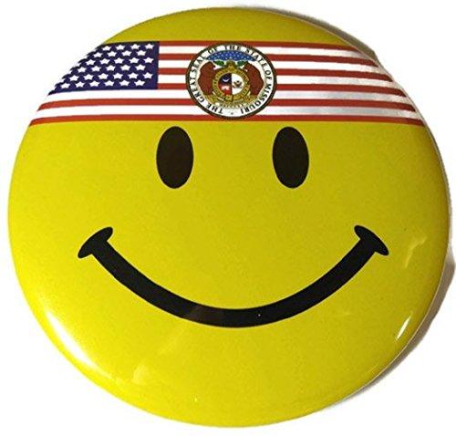 Chic 4 in 1 Emoticon GREAT SEAL MISSOURI MO US Flag Jumbo Badge Button Pin (Wigs Minneapolis)