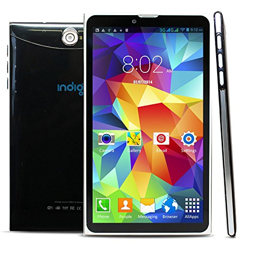 2-in-1 Android 6.0 Marshmallow Tablet & Phone + Bluetooth + Google play + Dual Camera (Black) by Indigi