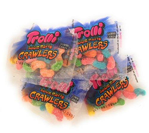 Mini Worms - Trolli Sour Brite Crawlers, Mini Packs, Small .6oz Bags,