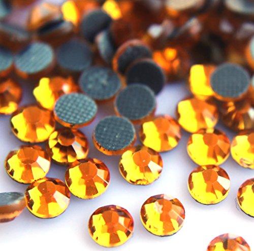 Rhinestone Orange (Zbella Crystal Hot Fix Rhinestones 10 Gross (1440 Stones/pkg) Hotfix Rhinestones (ss16, Topaz))