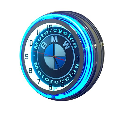 BMW Motorcycles Sign - 19 inch Neon Clock