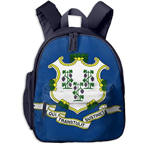 Connecticut Kids Backpack School Children Book Bag Daypack For Boys Girls