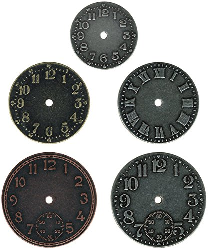 (Metal Timepieces by Tim Holtz Idea-ology, 5 per Pack, Various Sizes, Antique Finishes, TH92831)