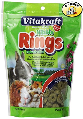 Pack of 3, Healthy Vitamins & Minerals Nibble Rings Treats for Small (Small Animal Nibble Rings)