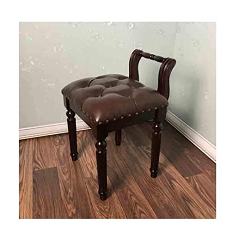 Phenomenal Amazon Com Ycsd Solid Wood Vanity Stool Backrest Makeup Alphanode Cool Chair Designs And Ideas Alphanodeonline