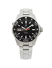 Tag Heuer Aquaracer quartz black mens Watch WAJ1110.BA0870 (Certified Pre-owned)