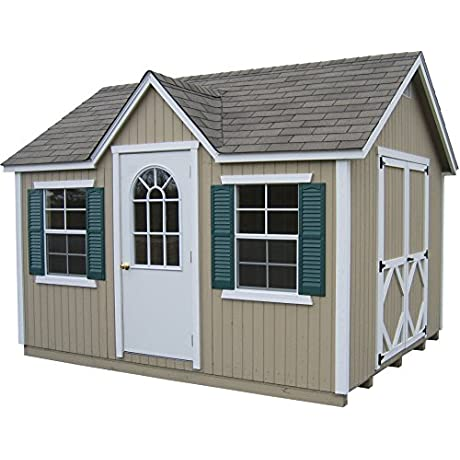 Little Cottage Company Classic Wood Cottage DIY Playhouse Kit 12 X 24
