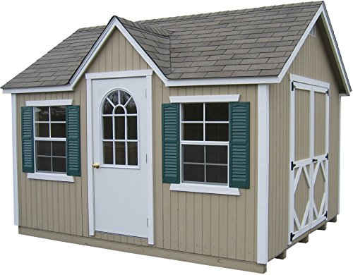 Little Cottage Company Classic Wood Cottage DIY Playhouse Kit, 12′ x 16′