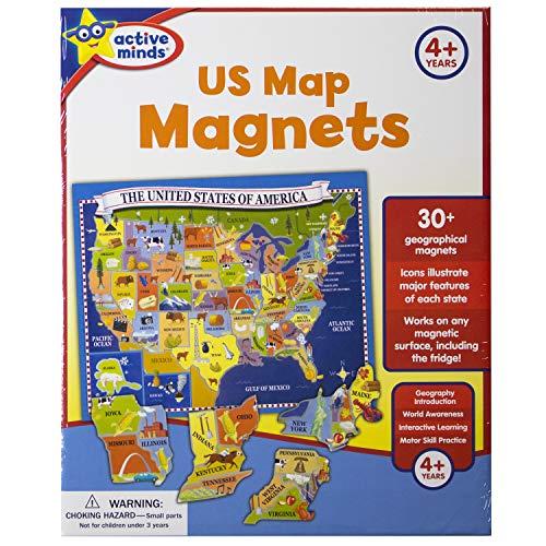 Active Minds - US Map Magnets (Mind Map 7)