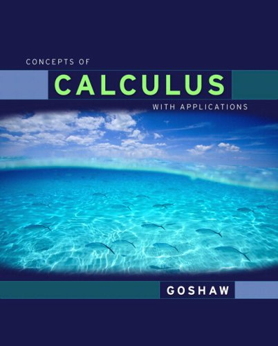 Concepts of Calculus With Applicationsd Edition Value Package (includes MyLab Math/MyLab Statistics Student Access)