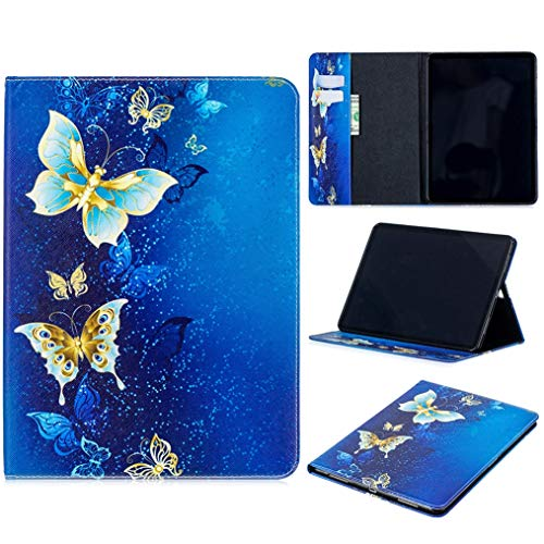 iPad Pro 11'' Case 2018, iYCK PU Leather Flip Folio [Card Slot] Protective Shell Wallet Case Cover with Stand Kickstand for Apple iPad Pro 11inch 2018 Release Tablet - Gold Butterfly