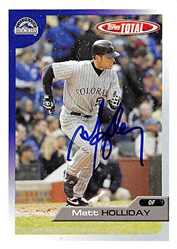 Autograph 179075 Colorado Rockies Ft 2005 Topps Total No. 96 Matt Holliday Autographed Baseball (Matt Holliday Autographed Baseball)