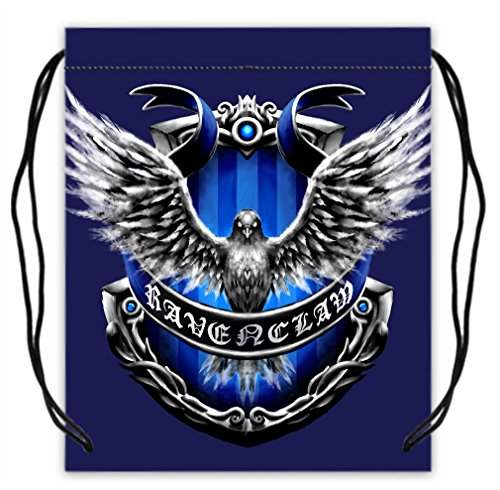 Harry Potter Ravenclaw Design Polyester Fabric Basketball Drawstring Bags Gym Drawstring Tote For Sale