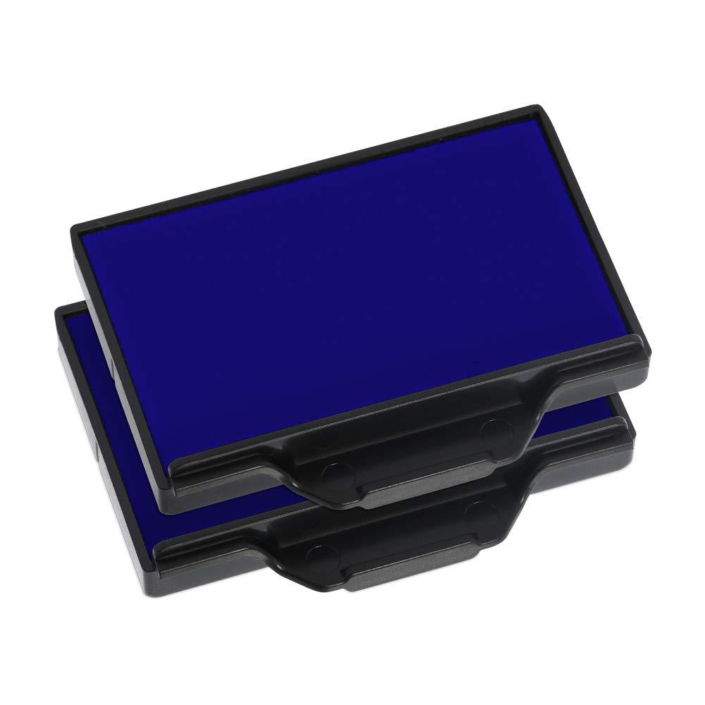 TRODAT Lot de 2 Cassettes encreur de rechange pour tampon 6//56B Bleu