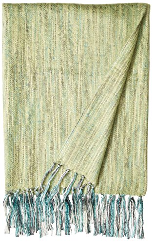 Bedford Cottage Zephyr Brushed Mohair Type Throw, 50 by 70-Inch, Pear (Pear Sheets Silky)