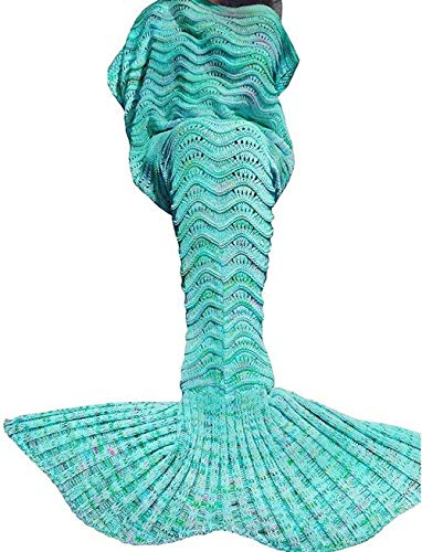 Discover Bargain Coroler Adorable Mermaid Tail Blanket Snuggle Sleeping Bags with Wave Pattern for A...