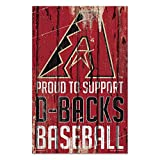 Arizona Diamondbacks Sign 11x17 Wood Proud to Support Design