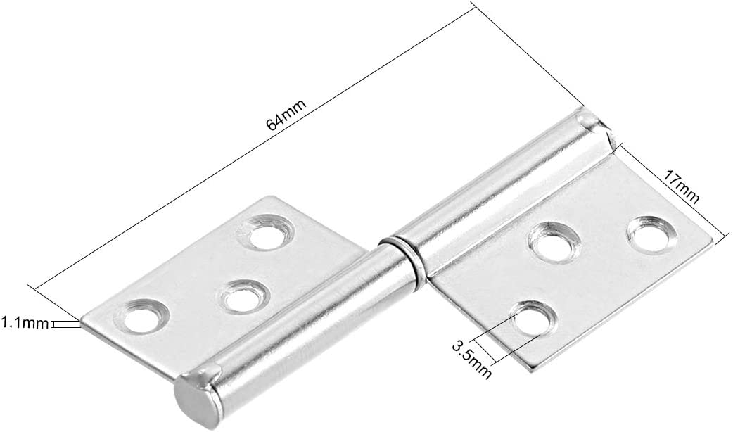 Stainless Steel Thickened Flag Hinge MUMA 5-inch Slip Joint Flag Hinge 2pcs Color : Brushed Silver, Size : 5 inches