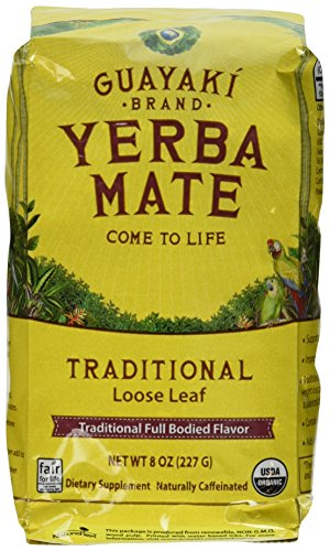Guayaki Traditional Loose Leaf Yerba Mate, 8-Ounce Package  (Pack of 4)