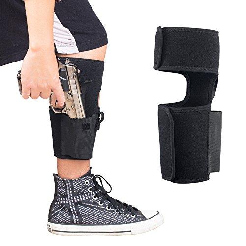 (NUOYOU Handgun Ankle Holster, Running Gun Ankle Holster Adjustable Neoprene Holster For Concealed Carry | Pistol Handgun Revolver Holster With Non Slip Calf Strap)