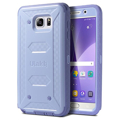 Note 5 Case, Galaxy Note 5 Case, ULAK Hybrid KNOX ARMOR Heavy Duty Shockproof Dual Layer Protective Case for Samsung Galaxy Note 5 Device (Purple)