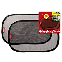 Car Sun Shades - 2 Pack - Premium Quality Cling Window Sunshades - Block UV Rays- Protect Children From The Sun's Glare