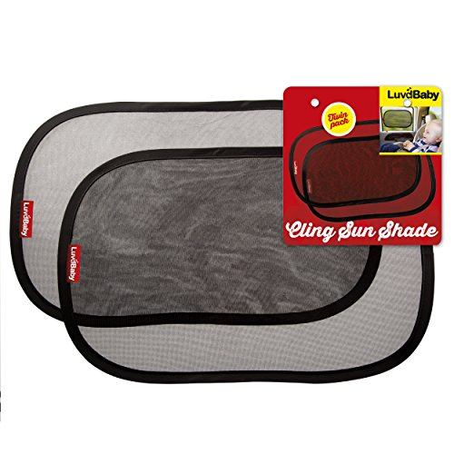 Static Cling Windshield - Car Sun Shades - 2 Pack - Premium Quality Cling Window Sunshades - Block UV Rays- Protect Children From The Sun's Glare