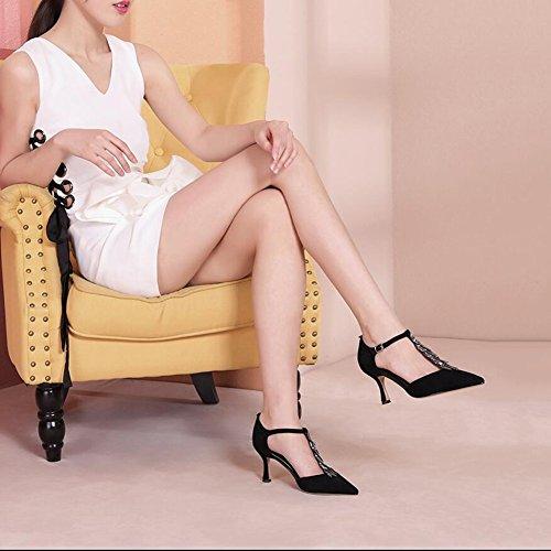 Talons DALL Femmes Doux 6cm UK5 Et Pointue 38 Noir Respirant EU Haut Printemps Pour Escarpins 5 723 Été taille CN38 Ly Sandales Chaussures Hauts Tête Et De xnWU7xCS