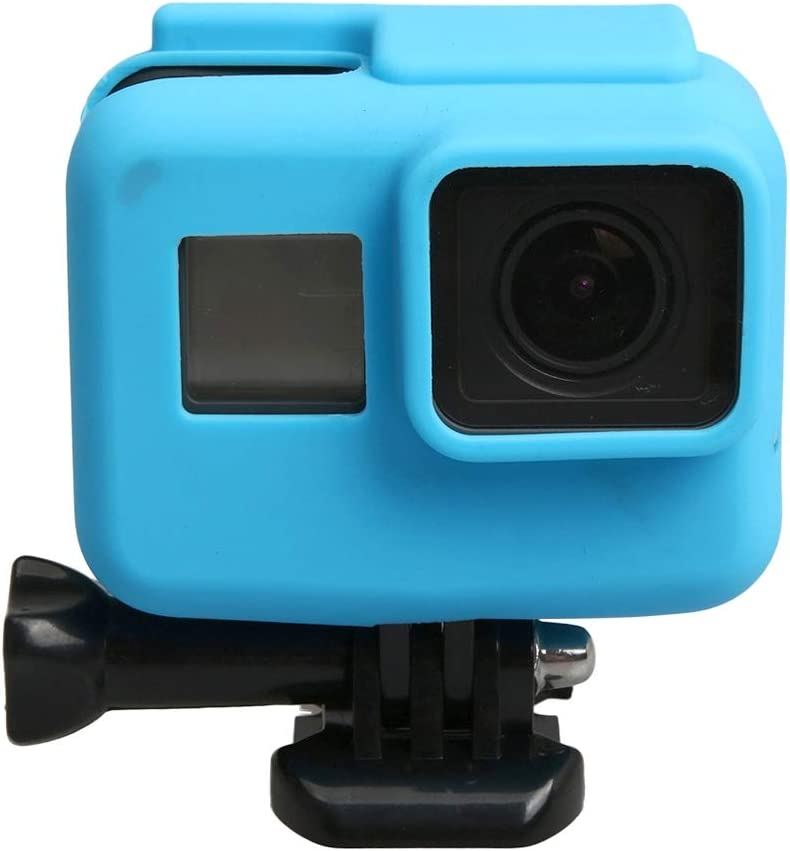 VKeyueDa VKeyueDa for GoPro HERO5 Silicone Border Frame Mount Housing Protective Case Cover Shell Color : Blue Black