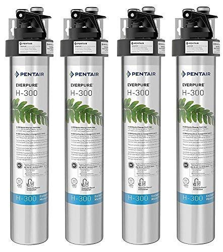 Quick Change Cartridge System Commercial Grade Water Filtration and Lead Reduction EV9270-76 Everpure H-300 Drinking Water Filter System