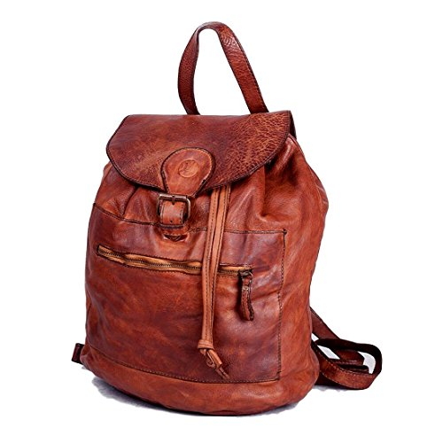 Michelangelo Genuine Leather Calf-Skin Italy - Backpack Soft Leather 31x21 H37 cm -