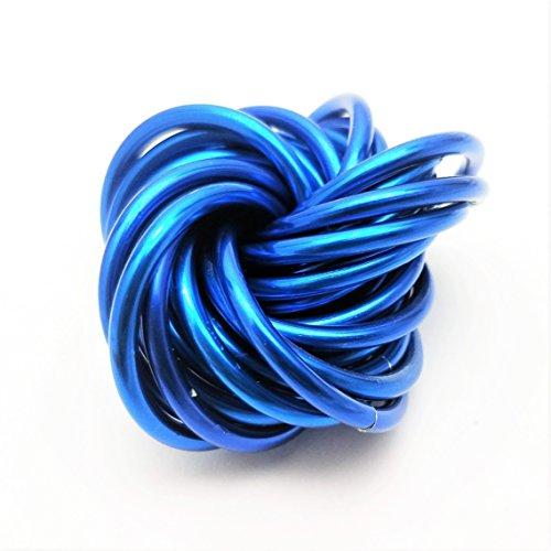 Price comparison product image Möbii Medium Fidget Balls: Mobius Stress Ball Fidget Toy for Restless Hands, Office Desk Toy, Anxiety Relief, Stress Relief, ADD, ADHD (Cobalt)