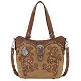 AMERICAN WEST BANDANA LEATHER SHADY COVE CONVERTIBLE TOTE LADIES HANDBAG HONEY