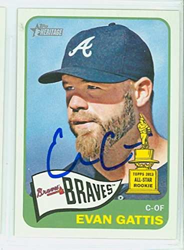 Evan Gattis AUTOGRAPH 2014 Topps Heritage 1965 Topps Design Atlanta Braves by Autographed Baseball Cards (1990- )