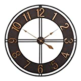 Studio Designs Home Industrial Loft 30 Inches Metal Wall Clock, Dark Bronze