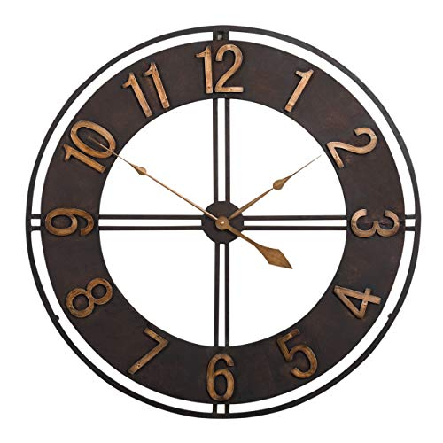Clocks 100% True European Wrought Iron Clock Black Antique Crafts Clock With Simulation Plant Practical Living Room Kitchen Balcony Decor Gifts Fashionable Patterns Desk & Table Clocks