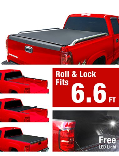 MaxMate Low Profile Roll up Truck Bed Tonneau Cover Works with 1999-2006 Chevy Silverado/GMC Sierra 1500 2500 3500 HD (Incl. 2007 Classic) | Fleetside 6.5' Bed -