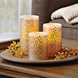 Malaysian Motif Flameless LED Pillar Candles