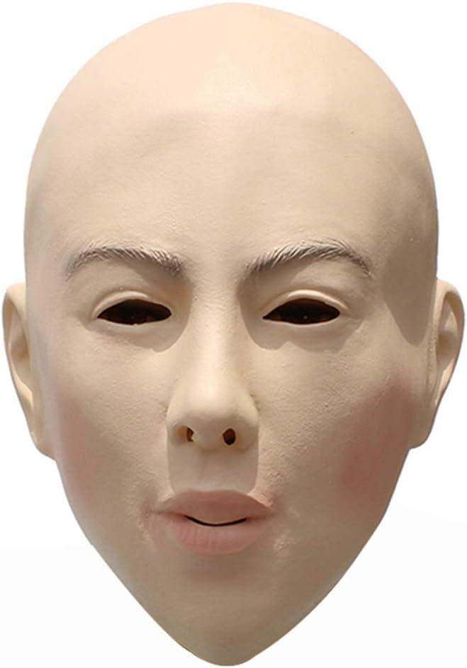 Gizayen Máscara de Belleza Calva, Disfraz de Mascarada Cosplay ...
