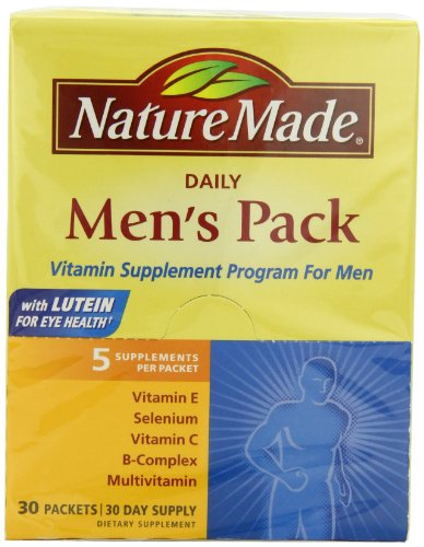 Nature Made Daily Men's Pack Vitamin Supplement Program 30 Each (Program Cabinet Pull Oil)