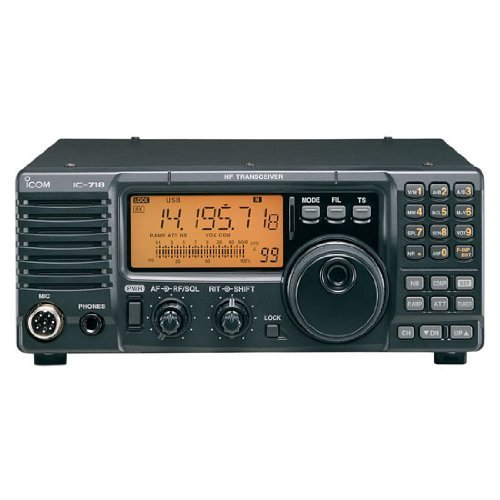 Icom IC-718 HF All Band Amateur Base Transceiver 100 Watts - Original Icom (Amplifier Ham Radio)