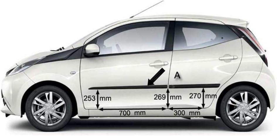 Noir Spangenberg 370000606 Baguettes de Protection lat/érales pour Toyota Aygo I 3 Portes Avant Facelift ann/ée de Construction 2005-2011 F6