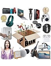 Caixa Da Sorte Presente Surpresa Jogos,Caixa Surpresa De AniversáRio, Caixas Misteriosas AleatóRias,Como Tablets,Fones De Ouvido Bluetooth, Relógios Inteligentes,4Produtos