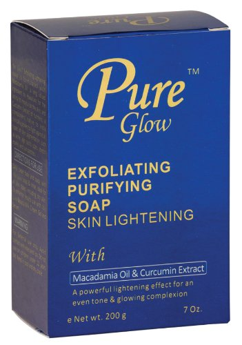 Pure Glow Exfoliating Purifying Soap Skin Lightening 7 oz.