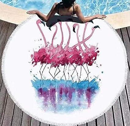 SUYUN Toalla de Playa Multifuncional de piña Redonda Impresa ...