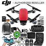 DJI Spark Portable Mini Drone Quadcopter Fly More Combo (Lava Red) Ultimate Accessory Bundle